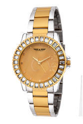 Golden And Silver Allisto Ladies Premium Dual Party Wear Watches