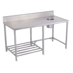 Stainless Steel Soiled Dish Landing Table, Weight: 10-30 Kg