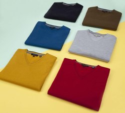 V Neck Plain T Shirts