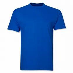 Cotton Half Sleeve Men Round Neck Plain T Shirt
