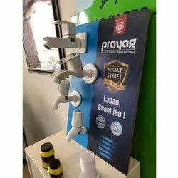 PVC White Prayag Plastic Tap, For Bathroom Fitting