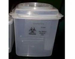 Bio-Hazard Sharp Container 3 Litre with HandlePuncture Proof Bio-hazard Sharp Waste Container 3 Litr