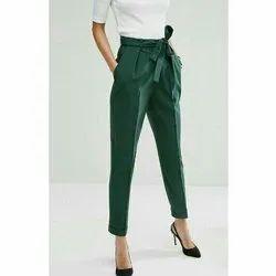 Ladies Green Cigarette Pants