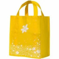 Yellow Printed Non Woven Bag