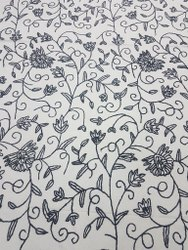 Cotton Dusooti Light Embroidery Crewel Fabric