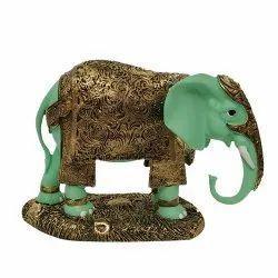 No 2 Green Elephant Statue