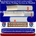 PhD Thesis Writing Services In Mumbai
