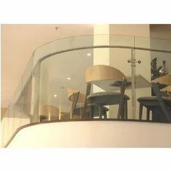 Transparent Mall Railing Plain Glass, Thickness: 12mm