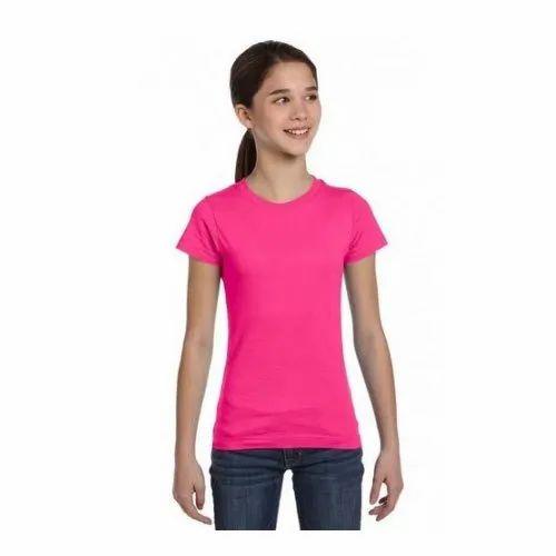 Pink Kids Cotton T-Shirt