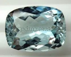 Sky Blue Topaz Faceted Cushion Gemstone