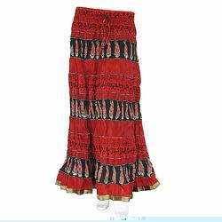 Designer Block Printed Cotton Skirt 307