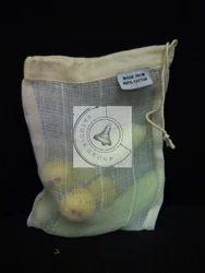 Casual Cotton Mesh Shopping Bag