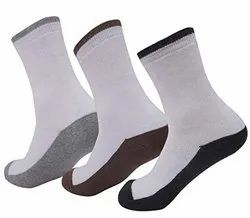 Hrg 5600 Sports Base Coloured (Bohra) Socks, Size: Free
