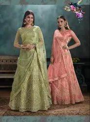 Net Wedding Zarkan Exclusive Range Of Indian Style Bridal Wear Lehenga Choli