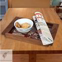 Square Wood Designer Wooden Serving Tray