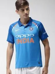 Blue Printed Cricket Jersey