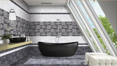 Ceramic Tiles Marvel Bathroom Tiles Designs, Size: 12*18 ...