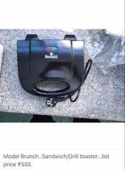 noella Black Novella brunch sandwich/grill toaster, Number Of Slices: 2, for Home
