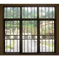 Iron Window Grill, Rectangular