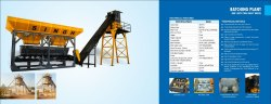 Non- Tilting Drum Mixer Electric Engine In Line Batching Plant, Output Capacity: 20