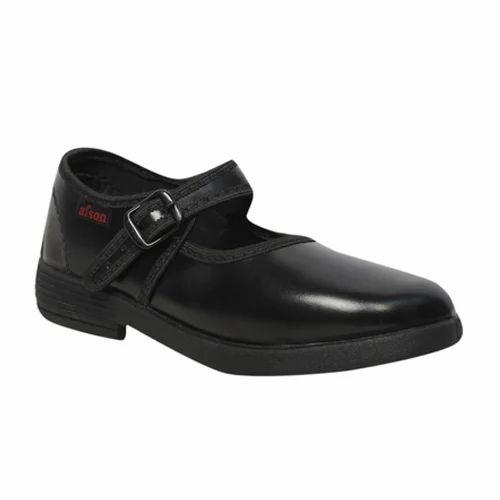 Afson Black Girls Plain School Shoes