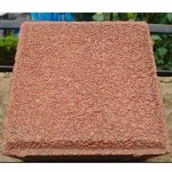 Outdoor Red Rectangular Concrete Square Blast Finish Paver