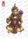 Lord Hanuman Sitting W/Out Base W/Stone Statue