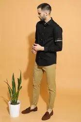Mens Black Designer Shirt