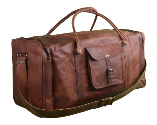51aa42198 Handmade Leather Travel Gym Duffel Bag at Rs 1900 /piece ...