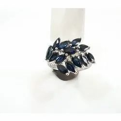 Female Blue Sapphire Ring