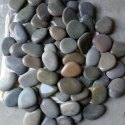 Dark Beige Natural Flat River Pebbles