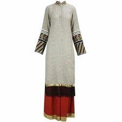 Full Sleeve Party Wear Kurti, Size: M - XL