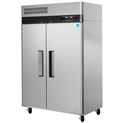 Silver Stainless Steel Two Door Commercial Refrigerator