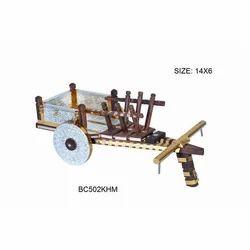 Brown Decorative Handicraft Bullock Cart