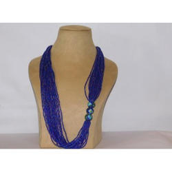 Japanese Beads Long Pottery Necklace