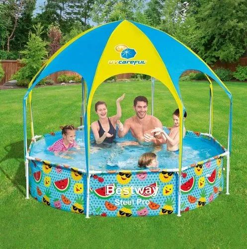 Thickened Pool Easy to Assemble Kids Teens and Adults for Garden and Outdoor Iraza Inflatable Pool Family Pool Rectangular Swimming Pool for Baby Wear-resistant