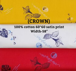 Crown 100% cotton satin print