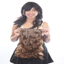 22 Inch Women Half Synthetic Hair Extension