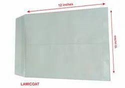 Green Lamination Envelope 12 Inch x 10 Inch