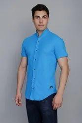 Aqua Blue Pique Knit Shirt