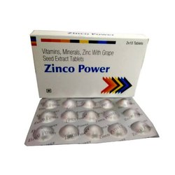 Vitamins Minerals Zinc With Grape Seed Extract Tablets
