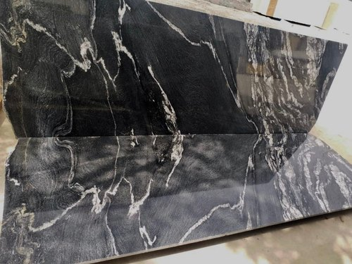 Polished SGM Black Marqino Granite Slab, For Countertops, Thickness: 15-20 mm