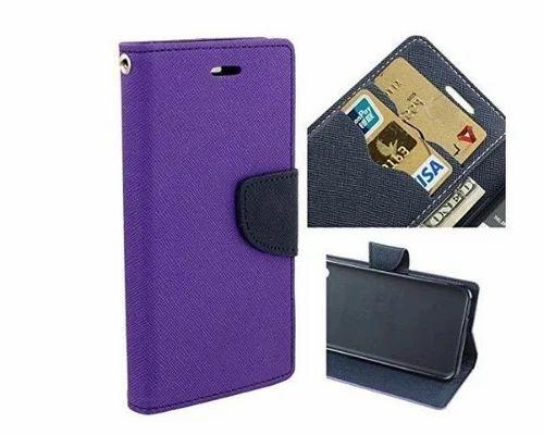 Flip Cover - Wallet Flip Cover Case For Moto E3 Power Blue Wholesaler from New Delhi