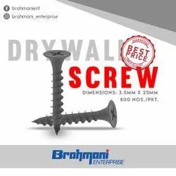 Black DRY WALL GYPSUM SCREW 25X6