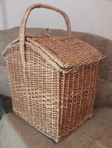 Brown Om handicraftsz Wicker Picnic Basket