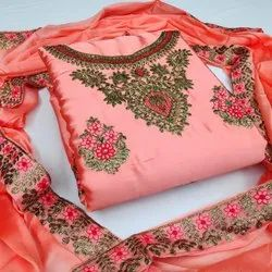 Diamond Embroidery Ladies Dress Material