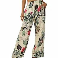 Casual Wear Ladies Cotton Floral Print Pajama