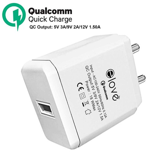 Elove Qualcomm 3.0A/18W USB Charger Adapter Wall Charger For All Fast Charging Type C Devices