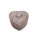 Heart Shape Wooden Printing Block