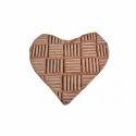 Heart Shape Wooden Henna Printing